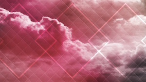 Colored Clouds Pink Motion Background