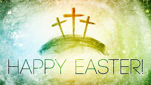 Colorful Crosses Easter Motion Background