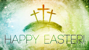 Colorful Crosses Easter Still Background