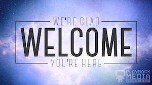Cosmic Revelation Welcome Motion Background
