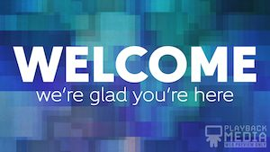 Dancing Prisms Welcome Still Background