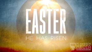 Easter Horizon Risen Motion Background