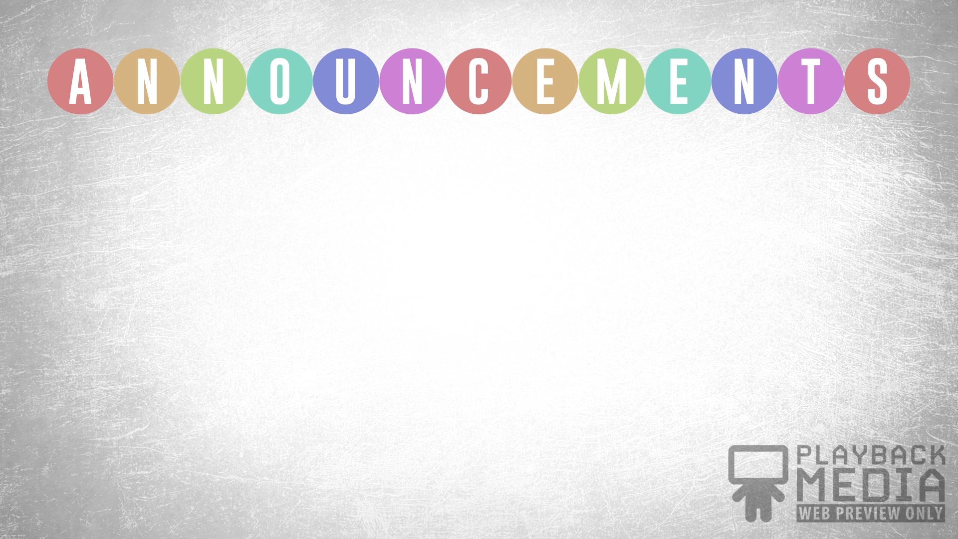Event Planner Announcements Motion Image