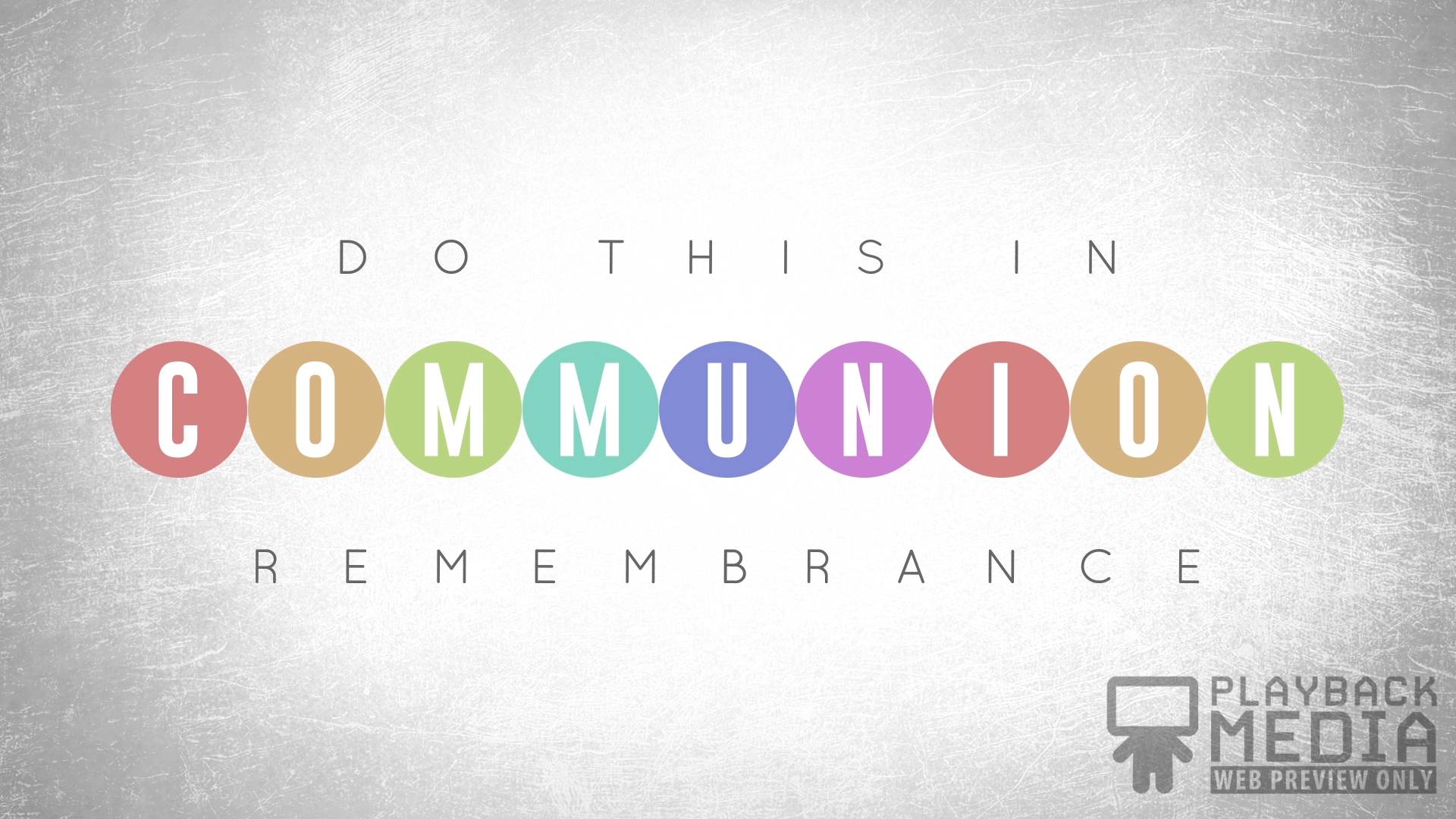 Event Planner Communion Motion Image