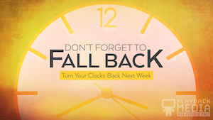 Fall Back Clock Motion Background