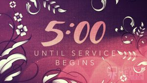 Filigree Flowers church Countdown