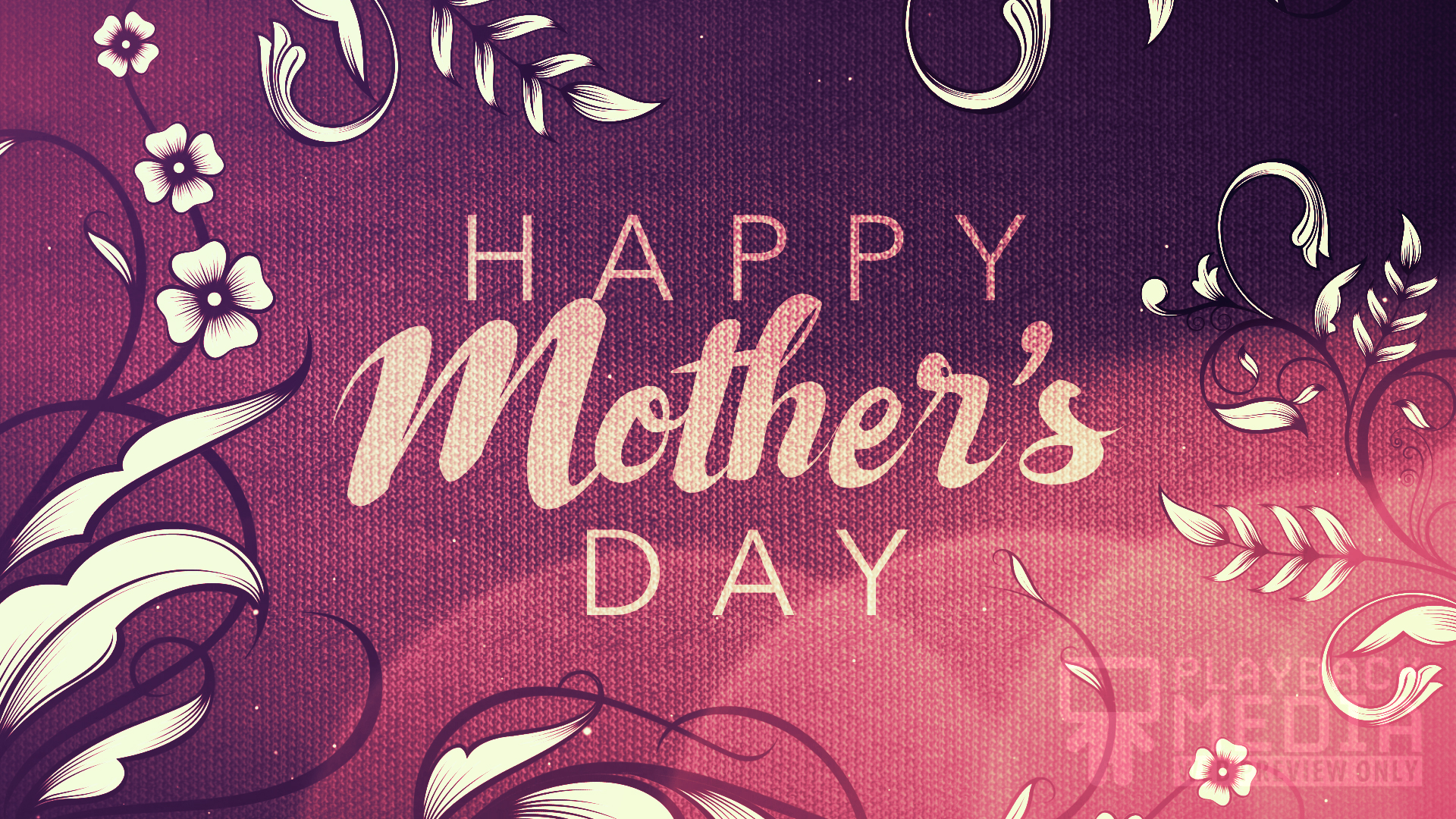 Filigree Flowers Mother's Day Motion Image