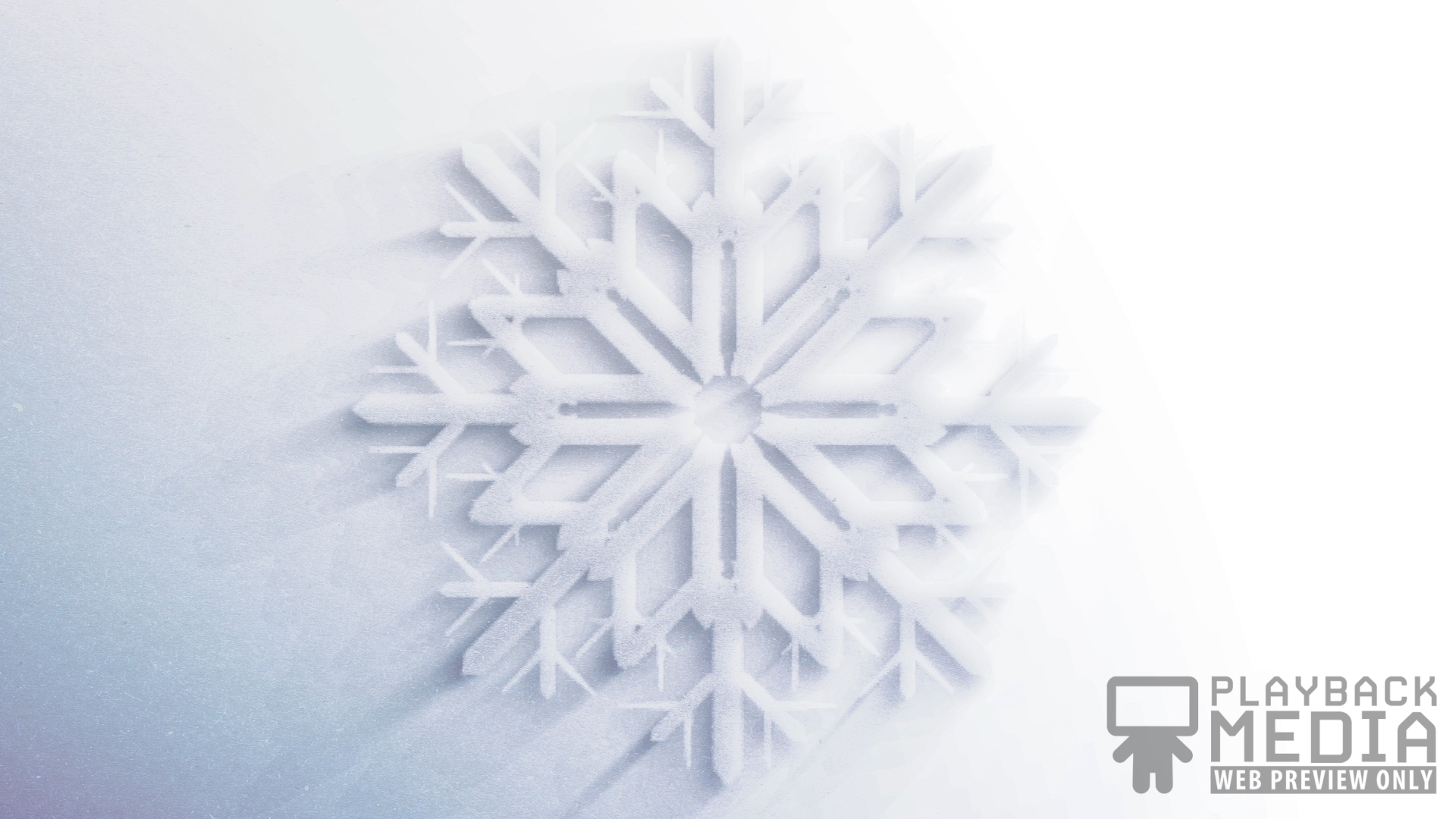 Frosted Snowflake 1 Motion Image
