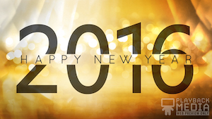 Golden New Year 2016 Motion Background