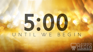 Golden New Year Church Countdown