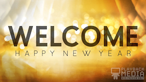 Golden New Year Still Background