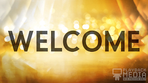 Golden New Year Welcome Still Background