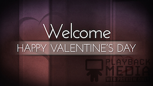 Lighthearted Valentine's Welcome Motion Background