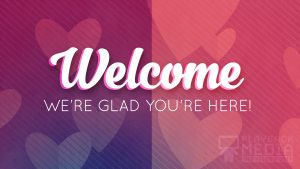 Heartfelt Love Welcome Motion Background