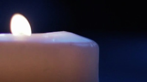 Left Blue Candle Loop Motion Background