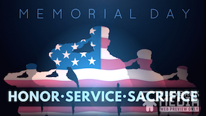 Memorial Day Salute 1 Motion Background