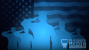 Memorial Day Salute 5 Motion Background