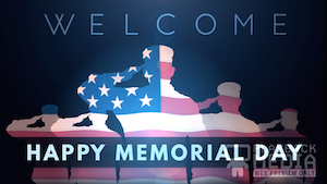 Memorial Day Salute Welcome Motion Background