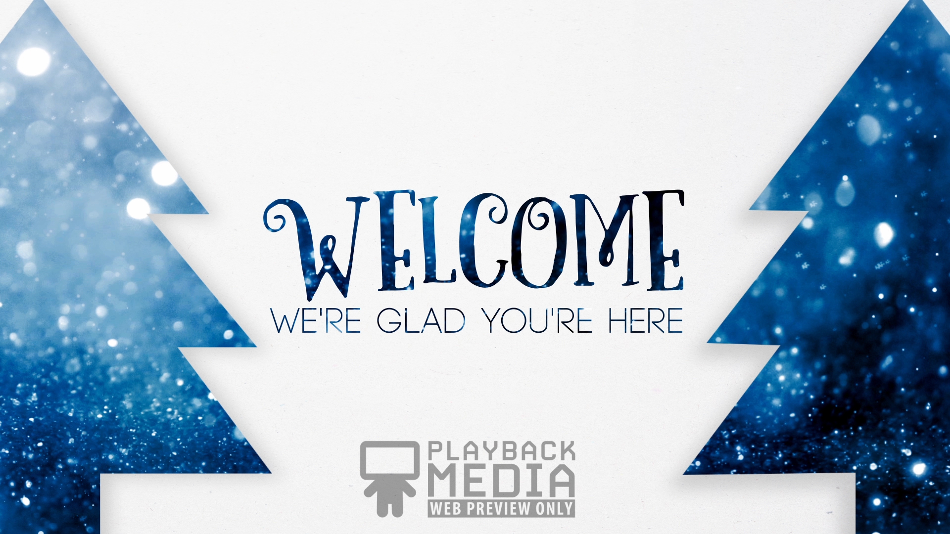 Merry Evergreens Welcome Motion Image