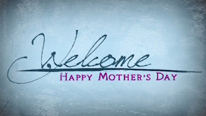 Mothers Day Paint Welcome Motion Background