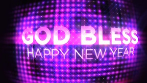 New Years Ball God Bless Motion Background Image