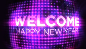 New Years Ball Welcome Motion Background
