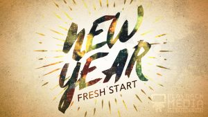 New Year Fresh Start Motion Background