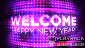 New Years Ball Welcome Still Background