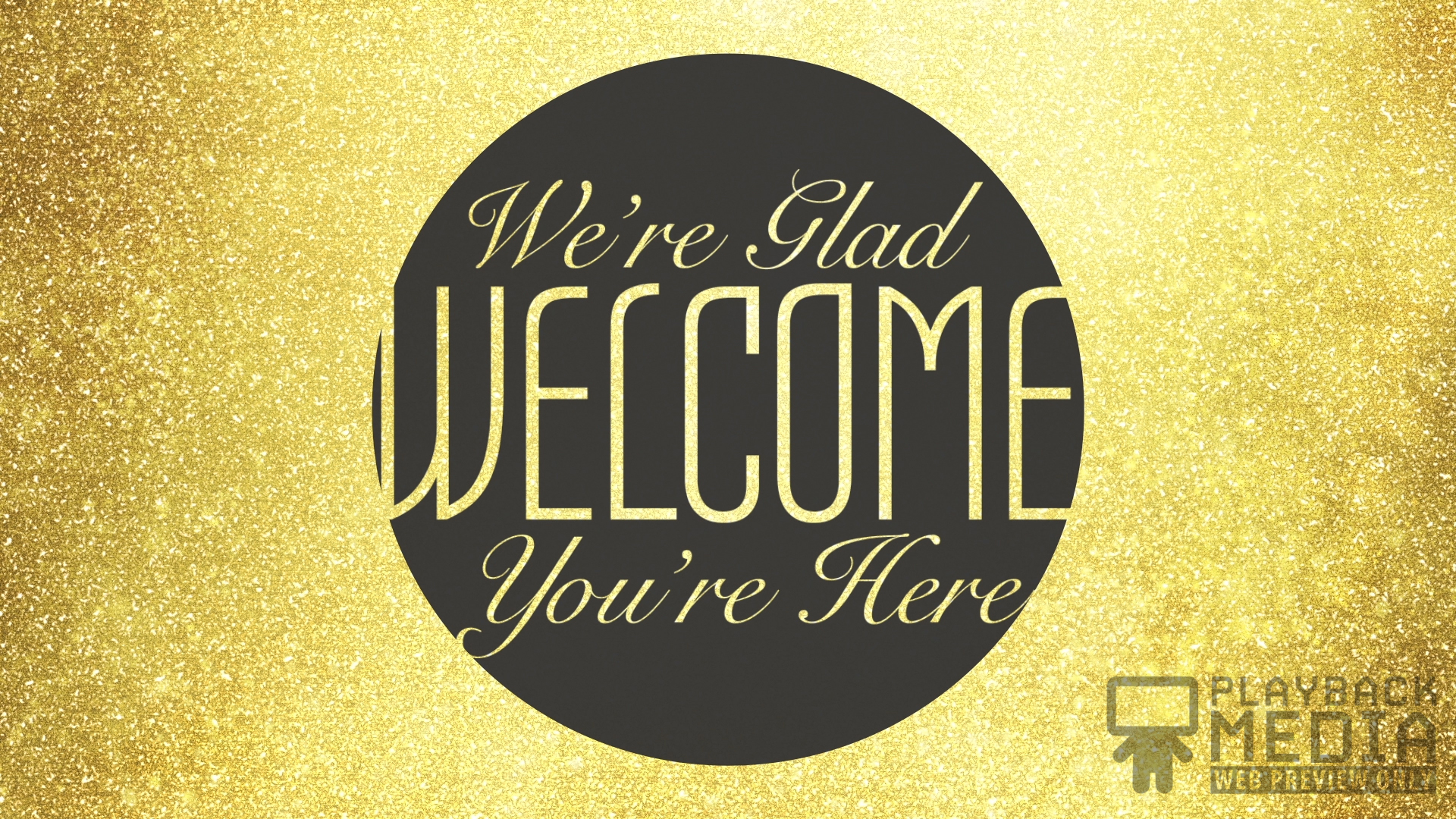 New Years Gold Welcome Motion Image
