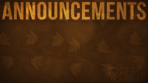 Orange Fall Announcement Motion Background