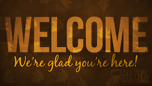 Orange Fall Welcome Still Background