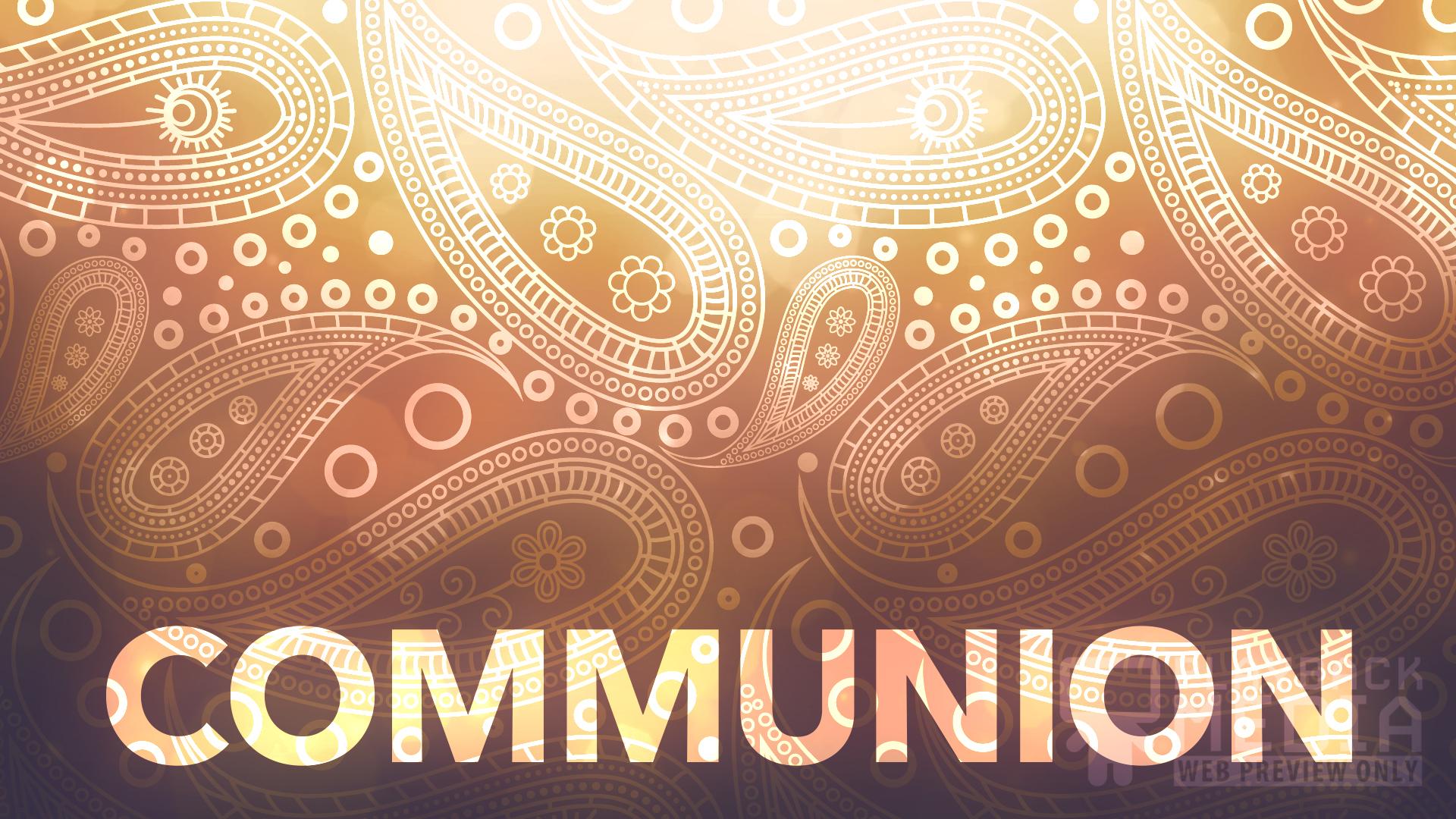 paisley communion motion background