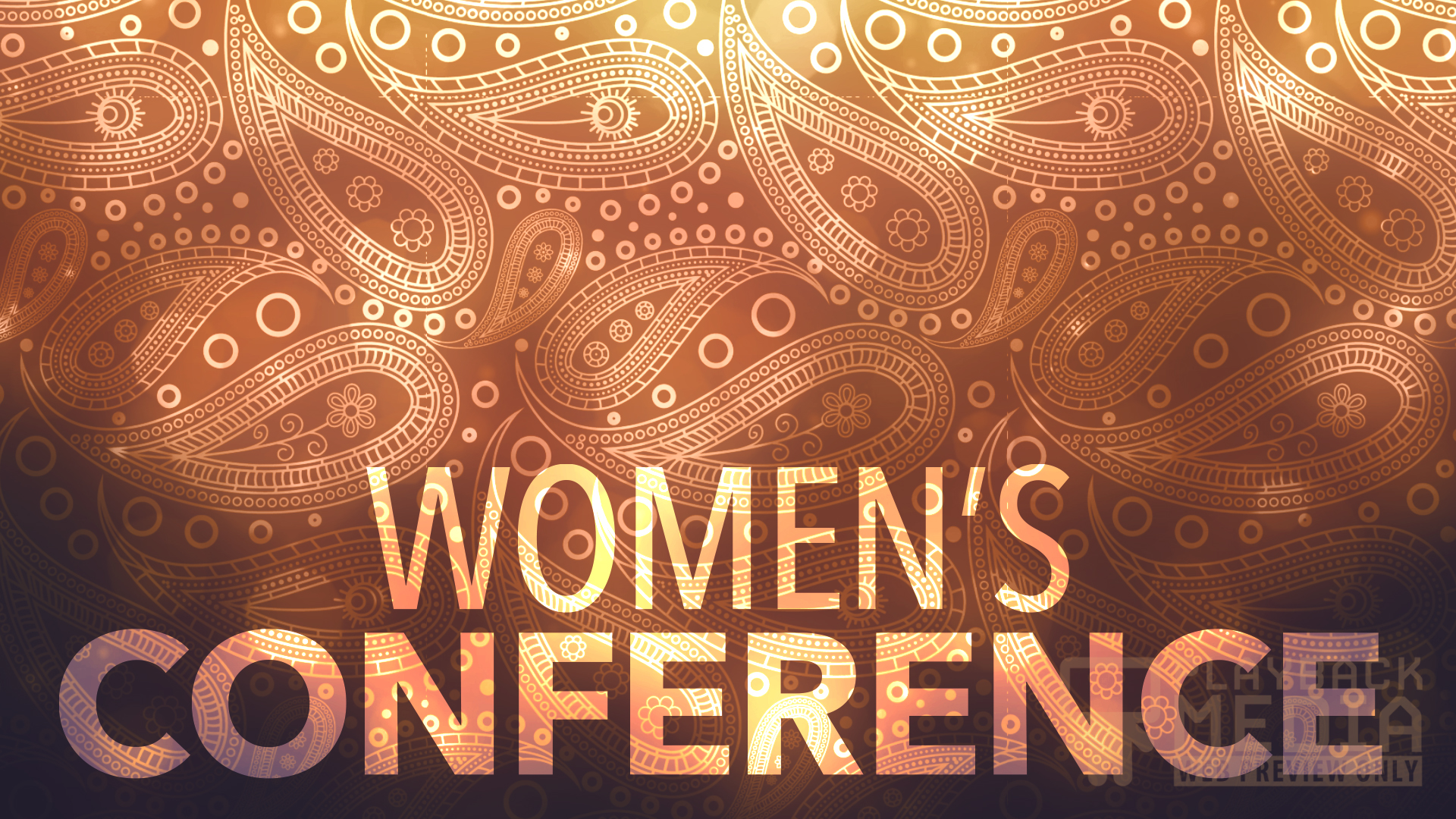 paisley womens conference motion background