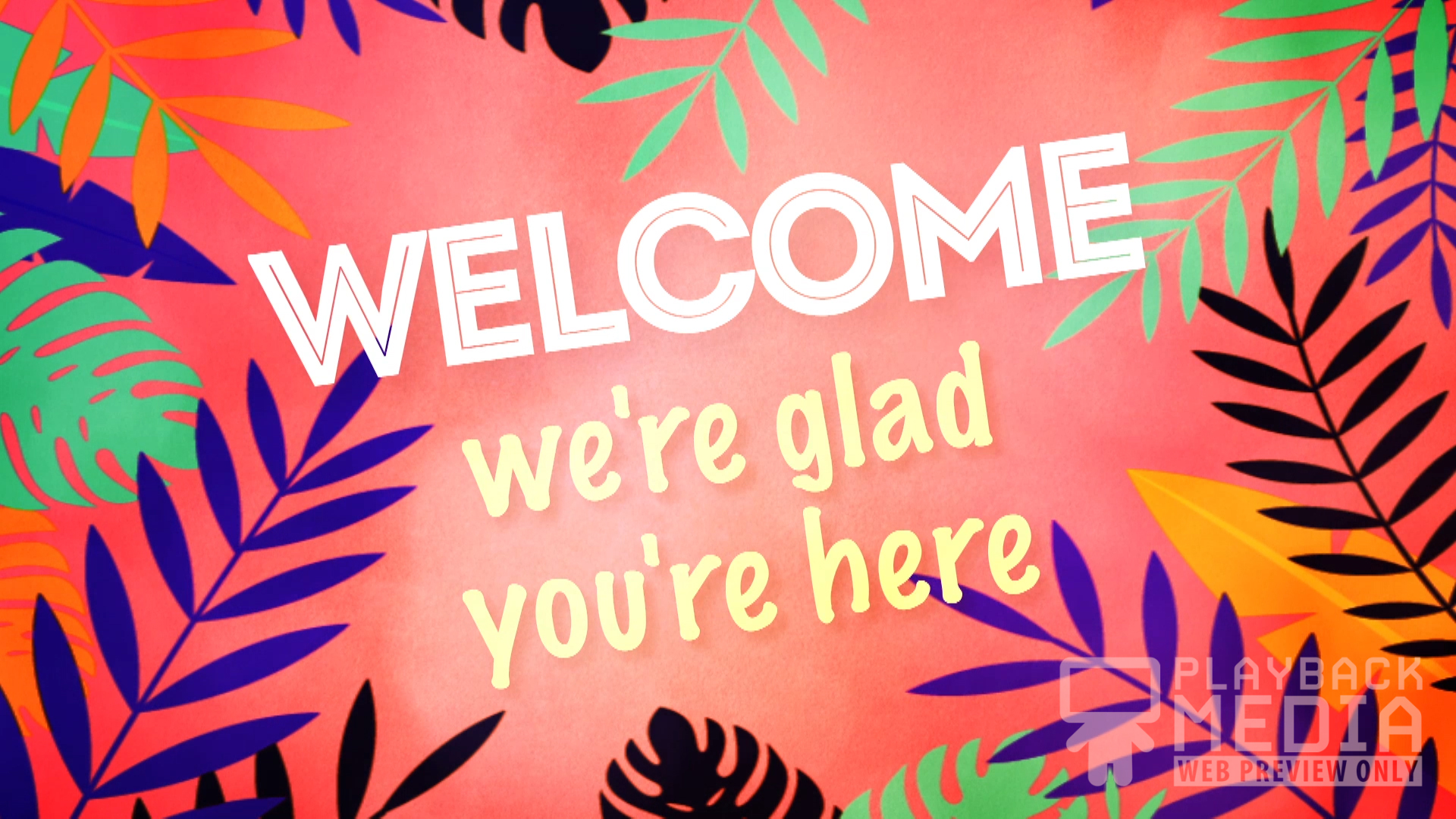 palm sunday party welcome motion background
