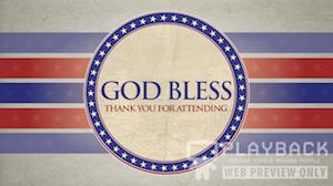 Patriotic God Bless Still Background