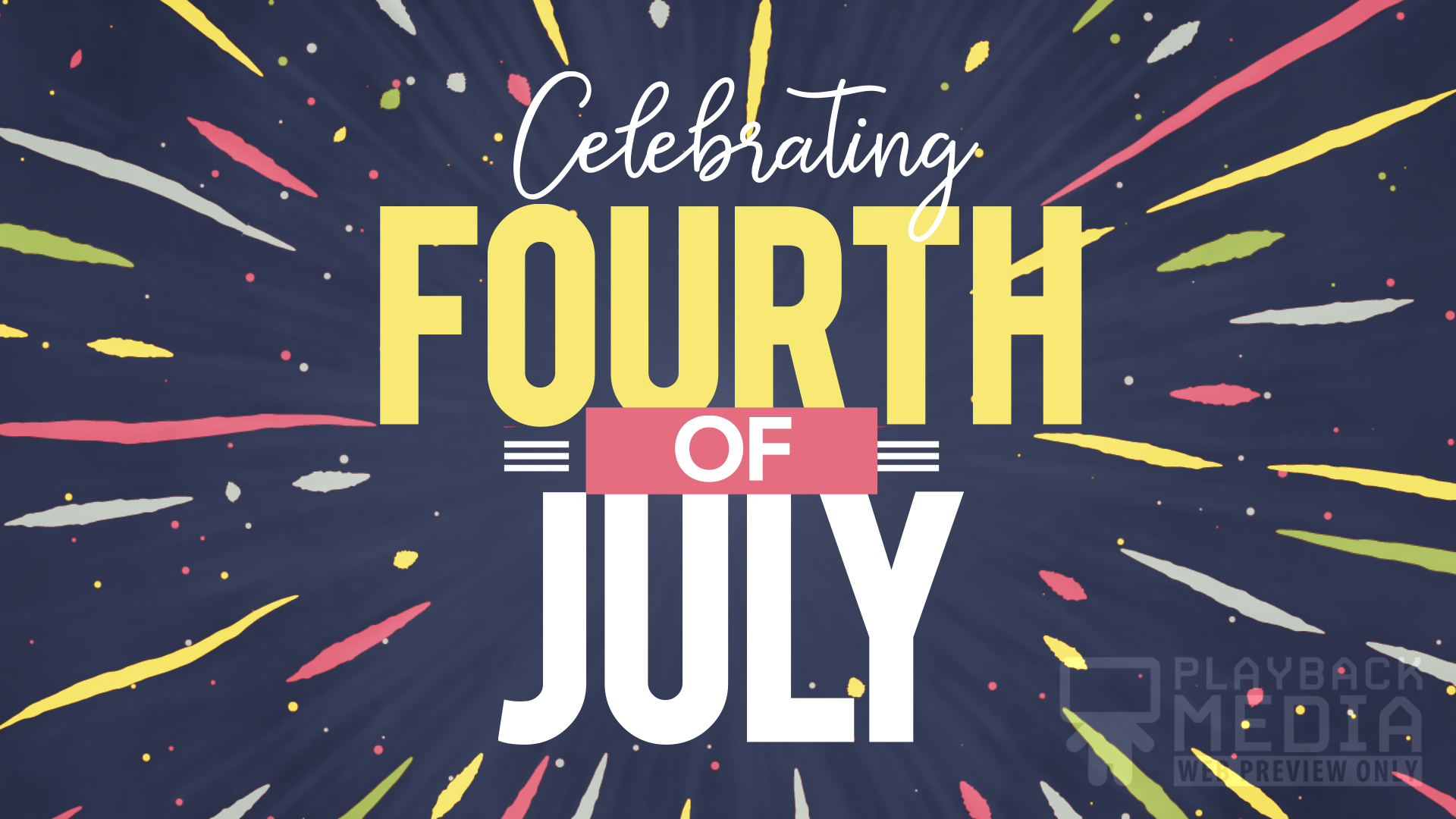 Patriotic Party Fourth of July motion background