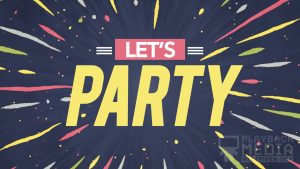 Patriotic Party Lets Party Motion background