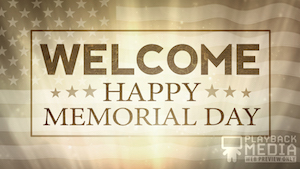 Patriotic Sacrifice Welcome Motion Background