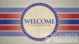Patriotic Welcome Still Background