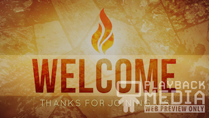 Pentecost Fire Welcome Motion Background