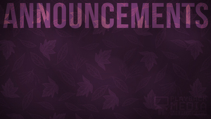 Purple Fall Announcements Still Background