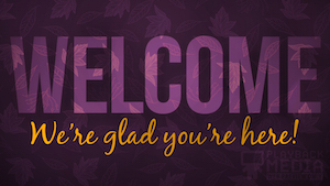 Purple Fall Welcome Still Background