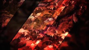 Red Leaves Blank Motion Background