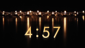 Reflective Candles church Countdown