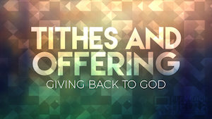 tithes and offerings playback media