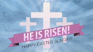Risen Banner Easter Welcome Motion Background