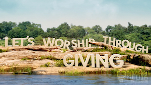 River Rock Tithing Motion Background