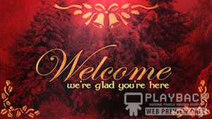 Ruby Christmas Welcome Still Background