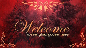 Ruby Christmas Welcome Motion Background