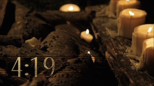 Rustic Candle Church Countdown